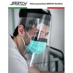 Schermo Facciale Visiera Protezione Sicurezza Droplet Paraschizzi Parafiato Made in Italy in PVC Riciclabile - OneShot